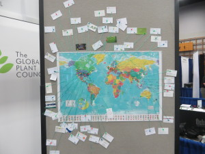 Our Global Plant Council map at the ASPB conference