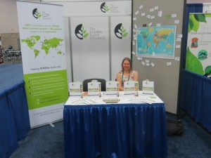 Ruth in the GPC booth at ASPB