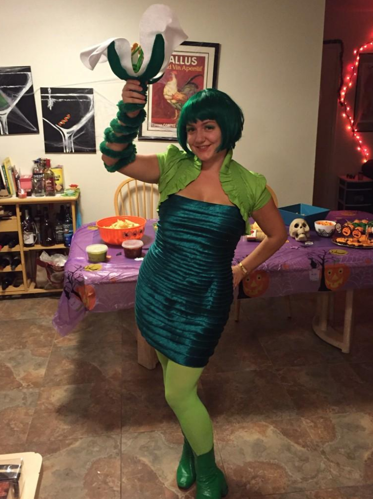 Kelsey Wood dresses up as our favourite model plant for Halloween.